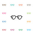 isolated spectacles icon glasses element vector image