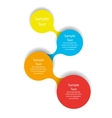 metaball colorful round diagram infographics vector image
