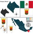 Map of Chiapas vector image