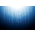 Dark blue circuit board tech background vector image