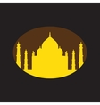 Modern flat icon with Black background Indian Taj vector image