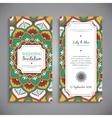 Wedding card or invitation Vintage decorative vector image