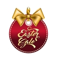 label with gold bow vector image