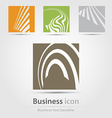 Originally created business icon set vector image vector image