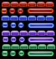 glowing computer icon vector image