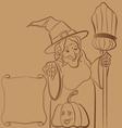 Granny Nanny doodle vector image vector image