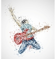Abstract guitarist vector image vector image