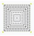 Decorative black tribal border design elements set vector image