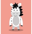 cute zebra isolated icon design vector image