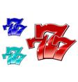 glossy 777 jackpot symbol vector image