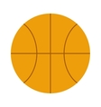 Orange basketball ball sport equipment competition vector image