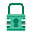 padlock flat icon security and lock vector image