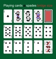 Playing cards Spades Bridge size vector image