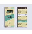 Restaurant and cafe menu Flat design Rv park and vector image