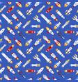 spaceship technology ship rocket space vector image