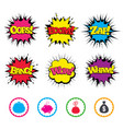 money bag icons wallet and piggy bank symbols vector image