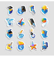 Icons for technology and computer interface vector image vector image