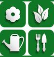 garden button vector image