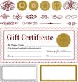 vector burgundy certificate frame set vector image vector image