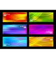 Set of colorful background vector image vector image