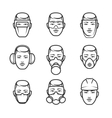 Occupational safety icons vector image