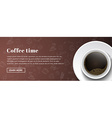 Design coffee banners vector image