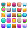 Big set of cartoon square buttons vector image