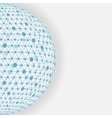 blue sphere network white background vector image