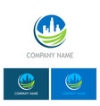 cityscape environment building logo vector image