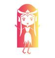 elf princess fantastic character in degraded vector image