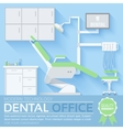 flat dentist office design background vector image