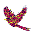 hand drawn zentagle colorful of bird High details vector image