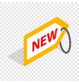 tag new isometric icon vector image