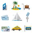 Tourism icon set vector image