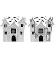 Easy haunted house maze vector image