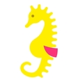 sea horse seahorse pony icon isolated on vector image