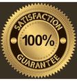 100 percent satisfaction guarantee vector image vector image