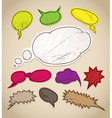 Vintage scratched speech bubbles clip-art vector image vector image