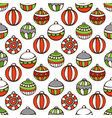 seamless pattern of christmas baubles vector image