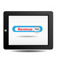 Revenue search on ipad vector image