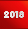 2018 new year on red background vector image