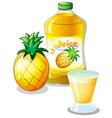 Pineapple juice drink vector image