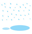 raindrop and water in rainy vector image