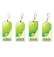 eco shopping tags vector image