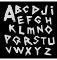 alphabet Font written by with a wide brush vector image