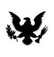 American eagle emblem isolated icon design vector image