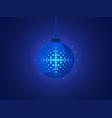 christmas ball with snowflake of pop art style vector image