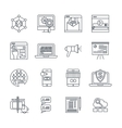Digital Marketing Linear Icons Set vector image