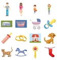 Family set icons vector image