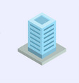 isometric business center vector image